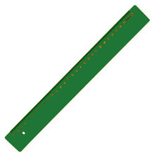 Leniar Linijka kolorowa 30cm zielony plastik