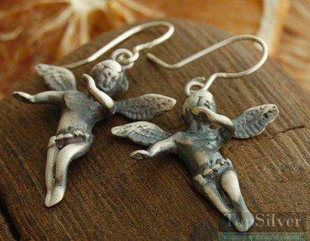 Angel - srebrne kolczyki