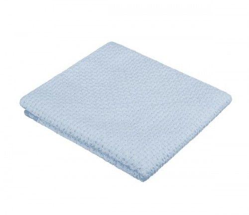 Akuku Kocyk 100% bawełniany Niebieski
