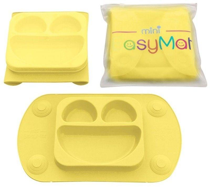 EASYTOTS - Easytots - Easymat Mini 2in1 Butter Silikonowy Talerzyk z Podkładką - Lunchbox