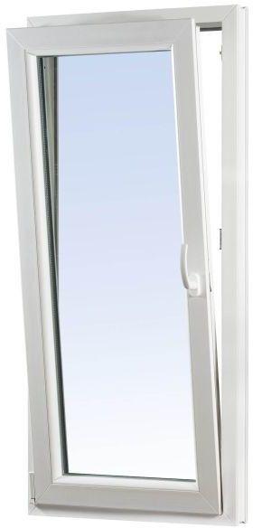 Okno PCV rozwierno-uchylne dwuszybowe 865 x 2095 mm lewe białe/antracyt