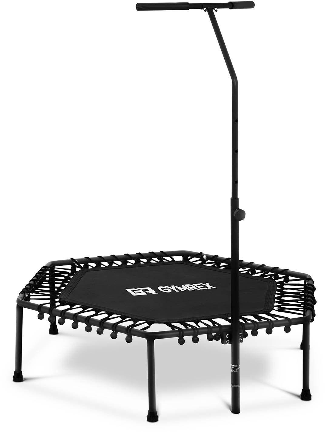 Trampolina z uchwytem - do 100 kg - czarna - 124 cm - Gymrex - GR-HT110G - 3 lata gwarancji/wysyłka w 24h