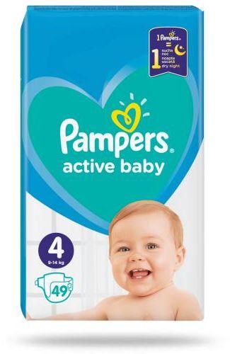 Pampers Active Baby 4 pieluchy 9-14 kg 49 sztuk
