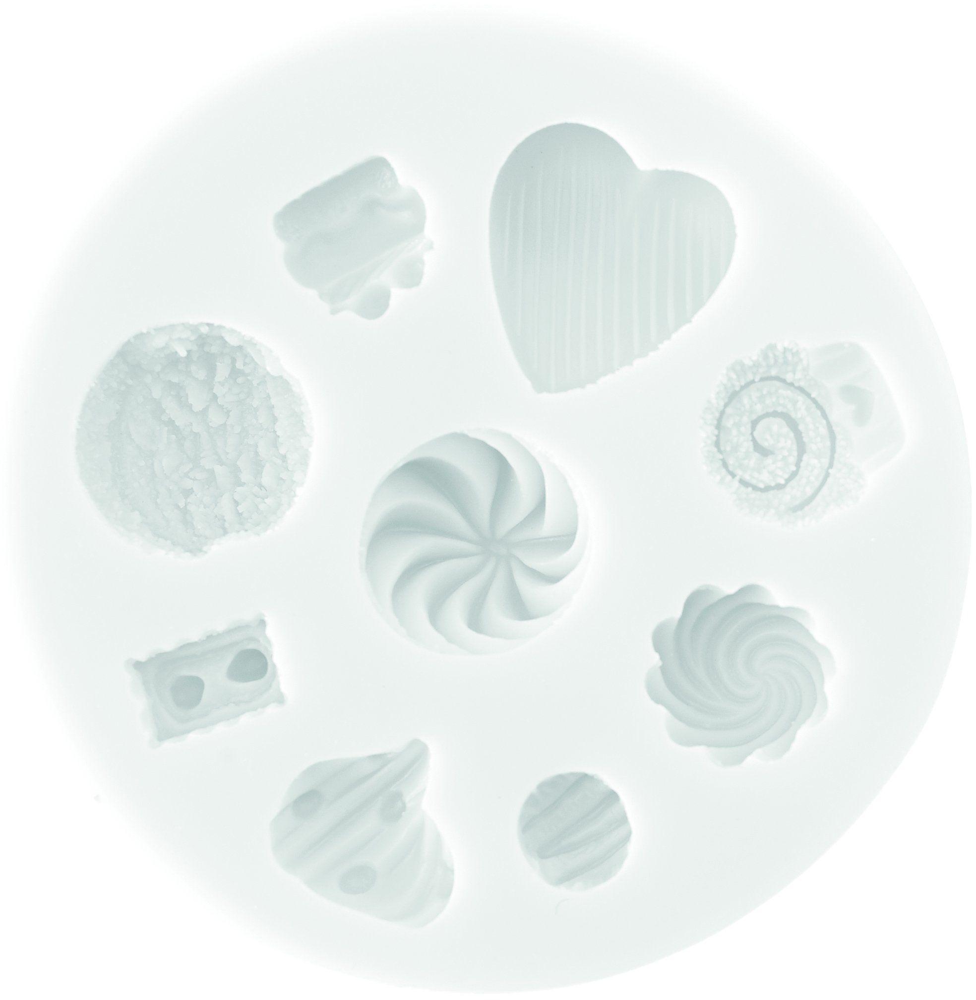 Silikomart 71.487.00.0096 foremka silikonowa do dekoracji tortów SLK387, silikonowa, pyszna, biała