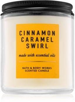 Bath & Body Works Cinnamon Caramel Swirl świeczka zapachowa z olejkami eterycznymi I. 198 g