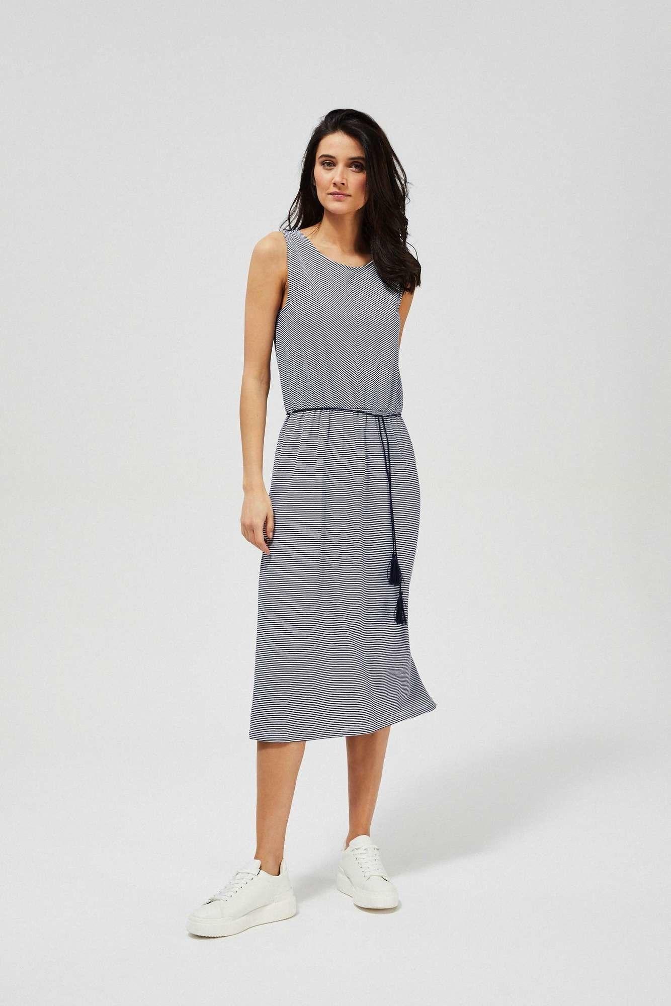 Bawełniana sukienka w paski