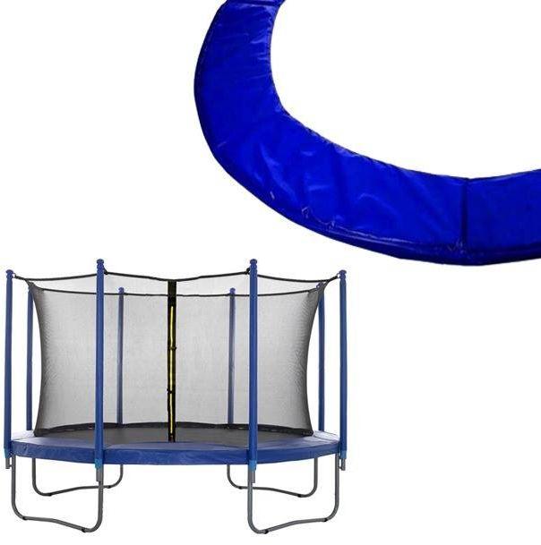 Siatka wewnętrzna do trampoliny z osłoną na sprężyny 244/250/252 8 FT 6 słupków niebieska