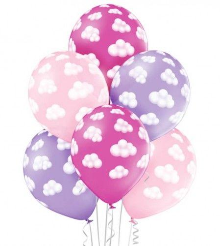 Balony dla dziewczynki Puszyste Chmurki, Girl, 6 szt.