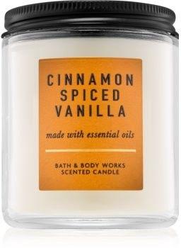 Bath & Body Works Cinnamon Spiced Vanilla świeczka zapachowa z olejkami eterycznymi 198 g
