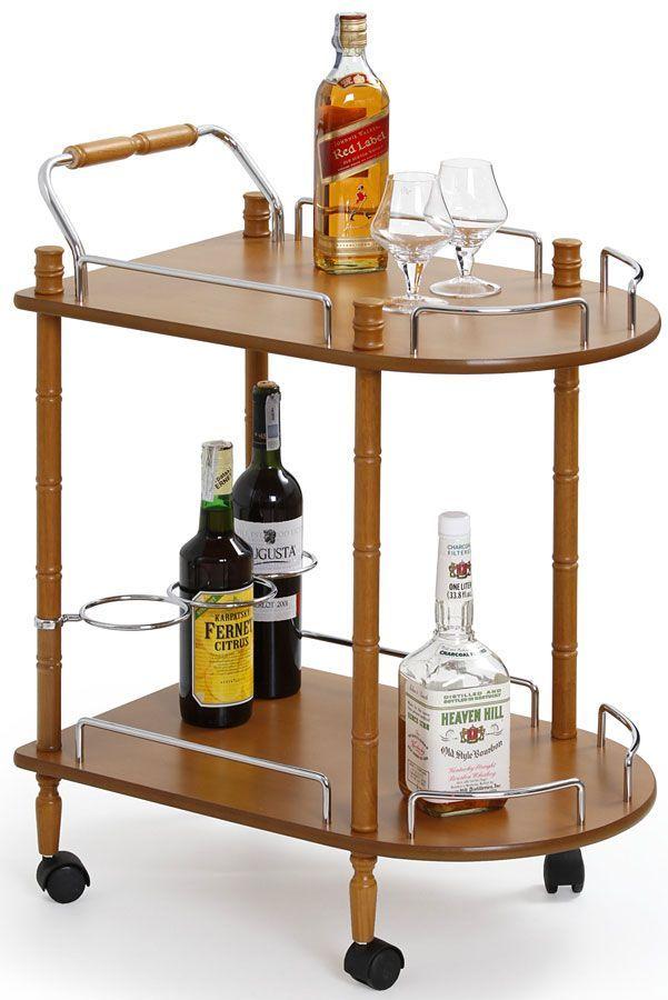 Barowy stolik na kółkach Lifton - buk