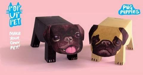 Pop Up Pet Pug Puppies: Make your own 3D card pet!