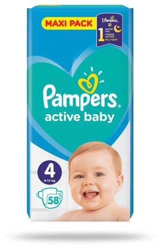 Pampers Active Baby 4 pieluchy 9-14 kg 58 sztuk