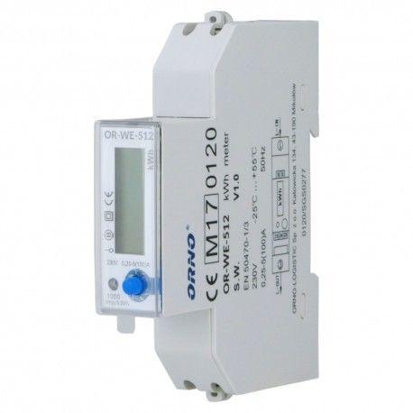 Licznik energii elektrycznej 1-fazowy MID 100A OR-WE-512