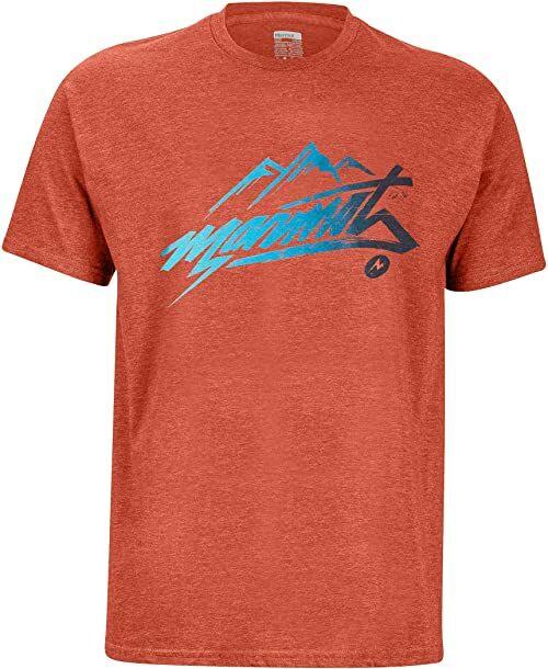 Marmot Męski T-shirt Marmot Rad T-shirt męski czerwony Picante Heather XXL