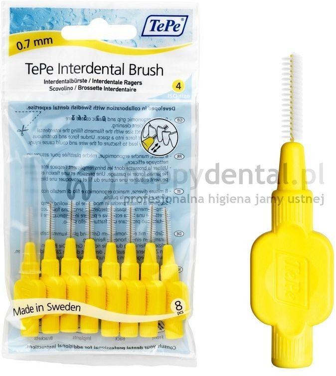 TEPE ID Original (0.7mm) żółte 8szt. - zestaw szczoteczek międzyzębowych (szczoteczki w wersji ORIGINAL)