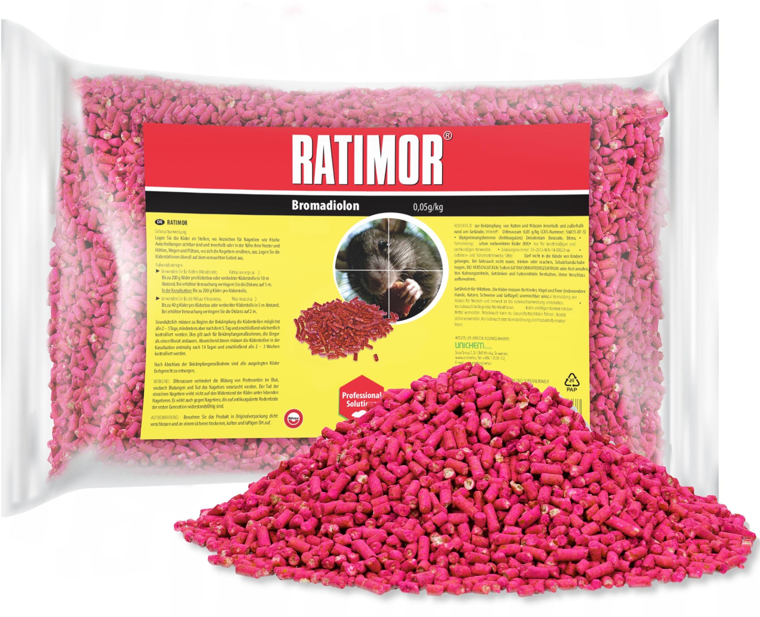 1kg Trutka na szczury, myszy, gryzonie. Granulat Ratimor.
