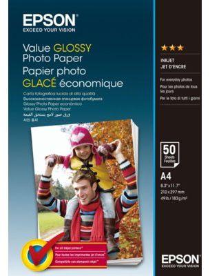 Papier EPSON Value Glossy Photo Paper A4 50 ark 183 g/m2 C13S400036