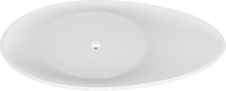Polimat wanna wolnostojąca Zoe 180x80 cm efektowny popiel 00407