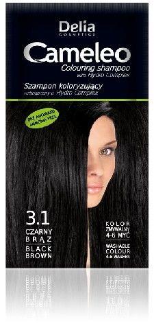 Delia Cameleo Szampon koloryzujący 3.1 Czarny Brąz 40ml