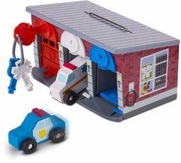 Melissa & Doug Klucze i samochody garaż ratowniczy Drewniany pojazd Świetna zabawa 3+ Prezent dla chłopca lub dziewczyny