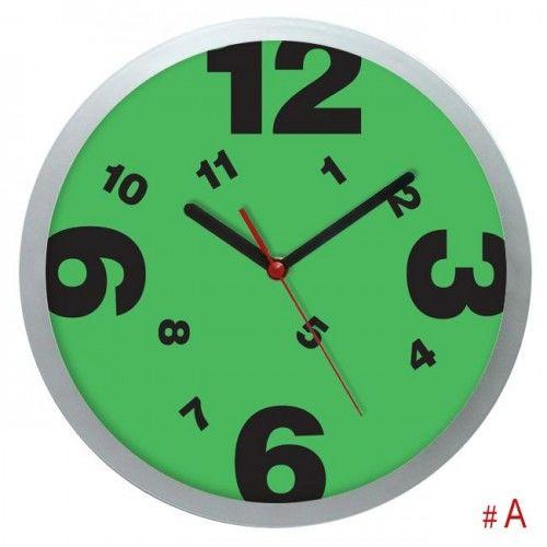 Srebrny zegar ścienny wesołe godziny