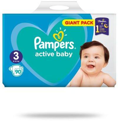 Pampers Active Baby 3 pieluchy 6-10 kg 90 sztuk
