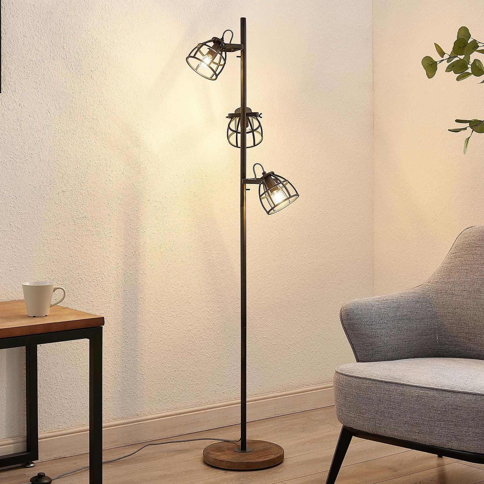 Lindby Rutger lampa stojąca, 3-punktowa