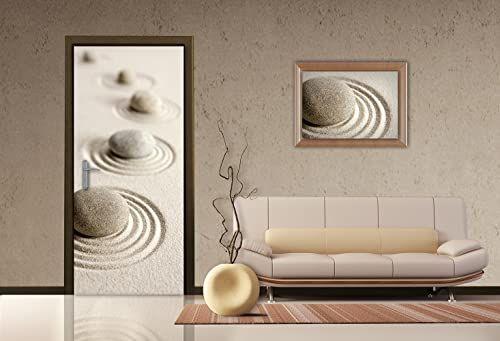AG Design FTV 1520 Zen kamienie, papierowa fototapeta - 90 x 202 cm - 1 część, papier, wielokolorowe, 0,1 x 90 x 202 cm