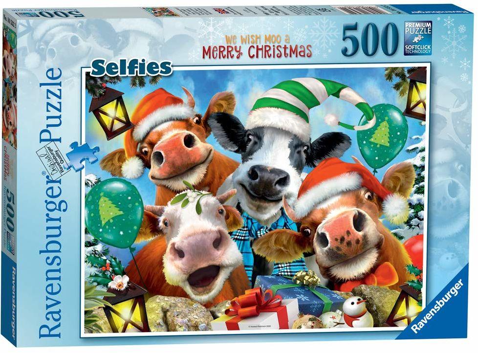 Ravensburger Frohe Boże Narodzenie Puzzle 500 części puzzle dla dorosłych