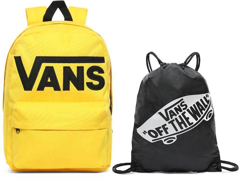Plecak szkolny Vans Old Skool III Lemon Chrome - VN0A3I6R85W + Worek