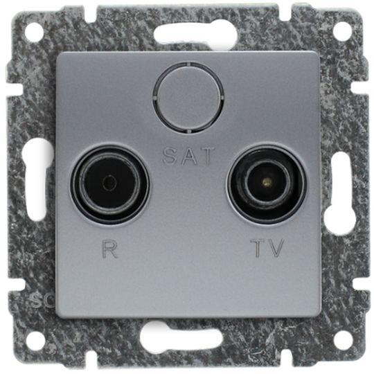 VENA Gniazdo antenowe RTV końcowe aluminium 514073
