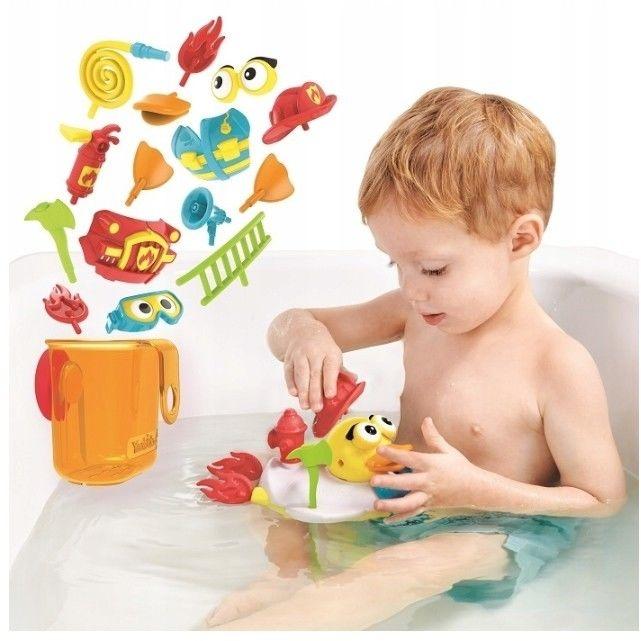 Yookidoo Odrzutowa kaczka Strażak 40172 zabawka do kąpieli