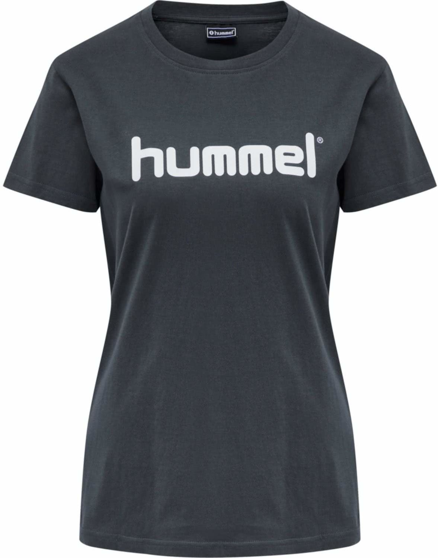 Hummel Go Cotton Logo T-shirt Woman S/S T-Shirt niebieski (India Ink) S