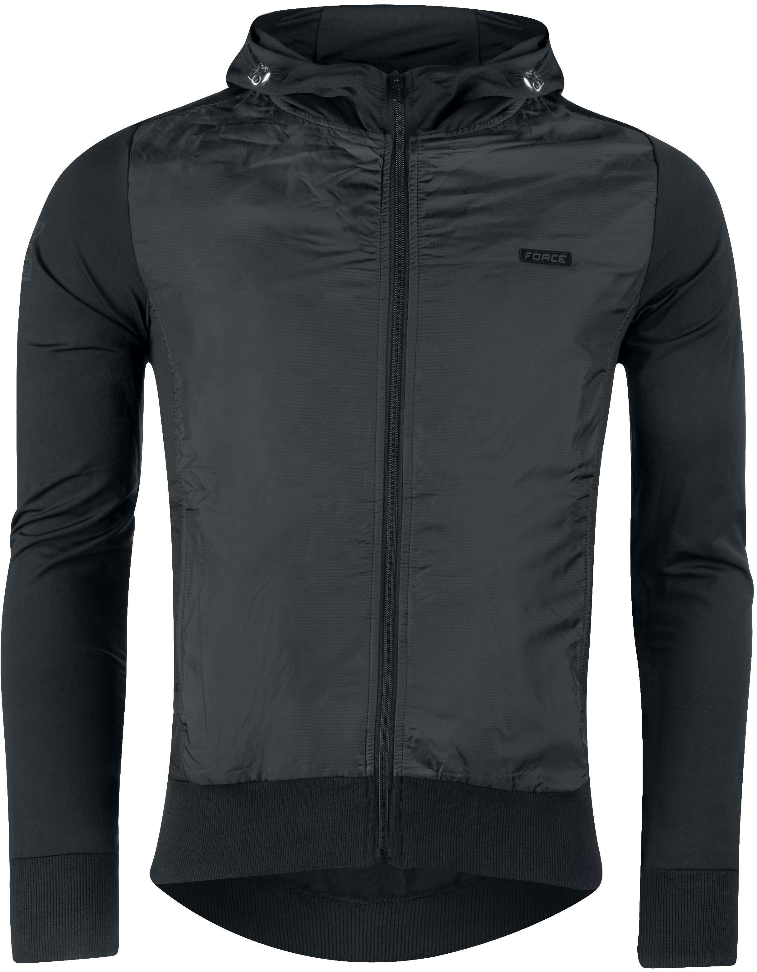 FORCE bluza sportowa na zamek elegant czarny 90730-XXL Rozmiar: 2XL,FORCEELEGANT90730