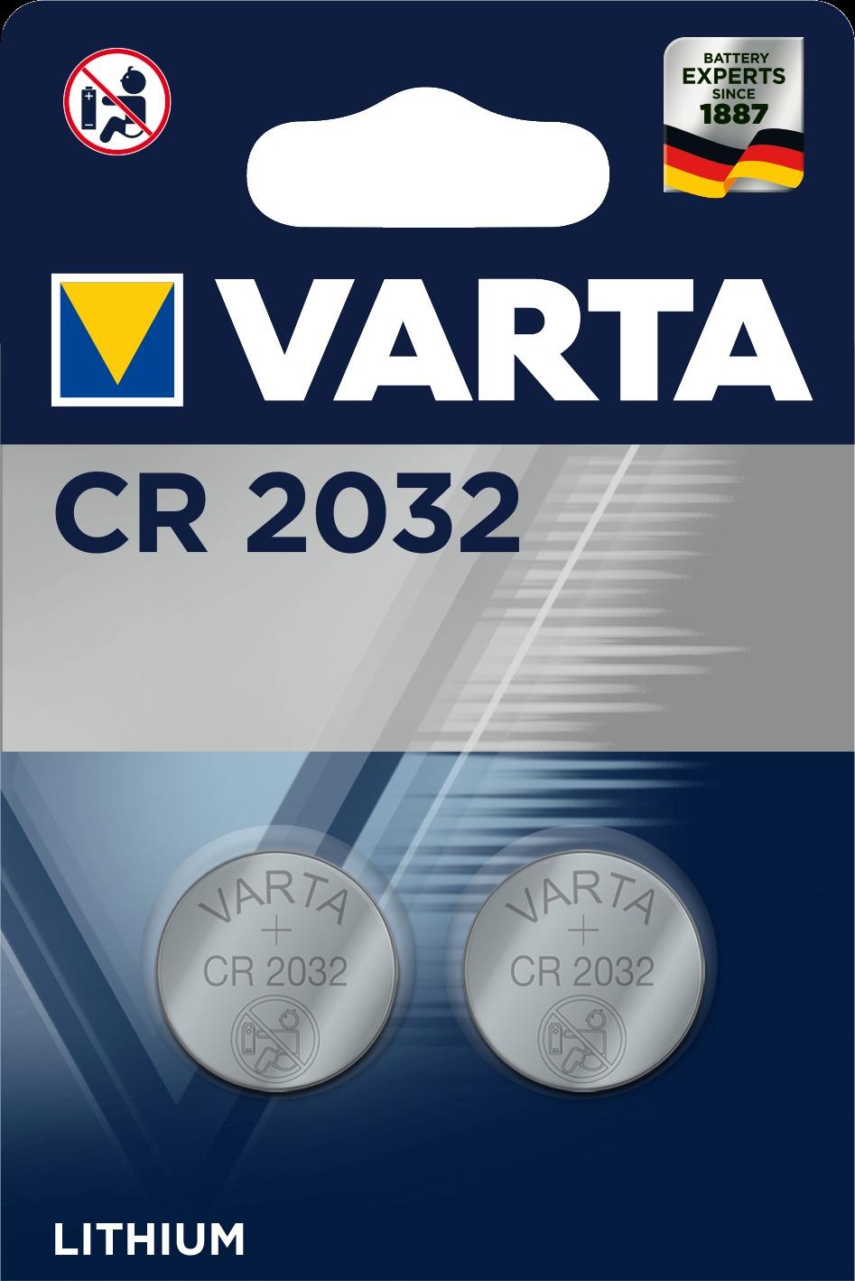 BATERIA VARTA Baterie VARTA CR2032 (2szt.) + Zamów z DOSTAWĄ JUTRO! + ODBIERZ ZA GODZINĘ W ELEKTROMARKECIE!