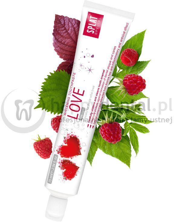 SPLAT Special LOVE 75ml - malinowa pasta wybielająca z lukrecją stworzona specjalnie dla zakochanych