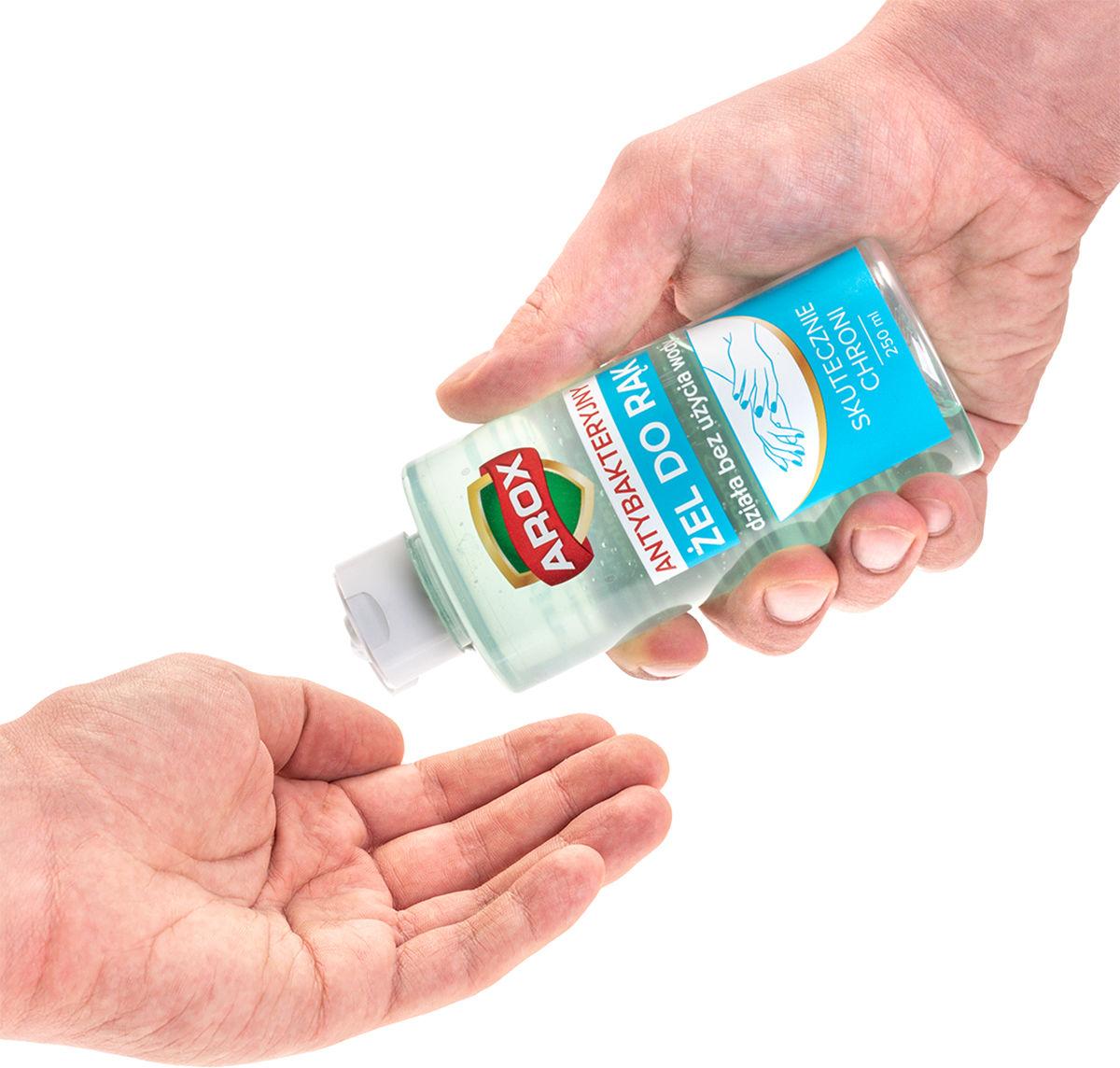 Żel antybakteryjny do dezynfekcji rąk Arox 250 ml