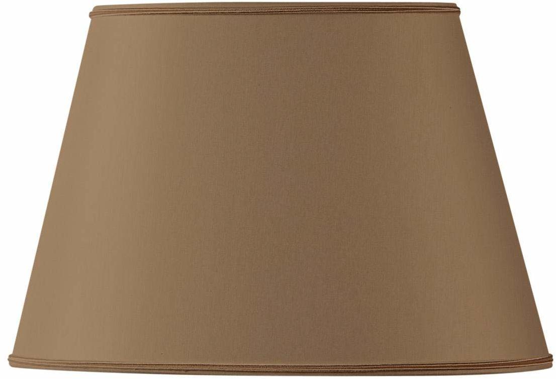 Klosz lampy owalny, średnica 35 x 24,5 cm, 21,5 x 15 cm, taupe