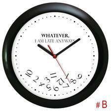 Zegar ścienny czarny whatever