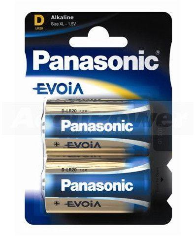 Panasonic Evolta D/Mono LR20 Alkaline Battery 2-Pack