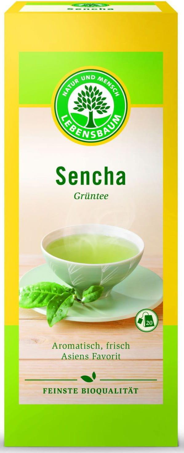 Herbata zielona sencha ekspresowa bio 20 x 1,5 g - lebensbaum