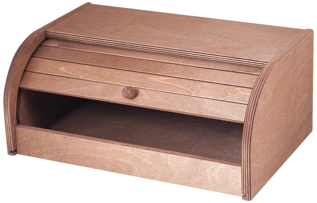 Home pojemnik na chleb z rolkami, drewno, ciemne drewno