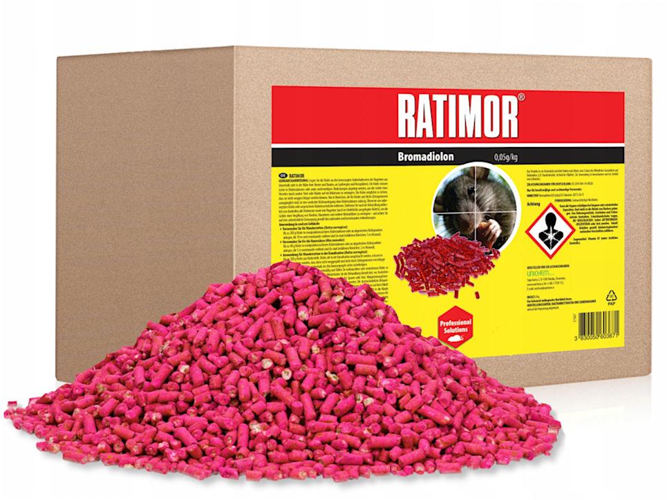 5kg Trutka na szczury, myszy, gryzonie. Granulat Ratimor.