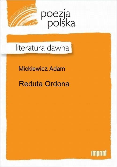 Reduta Ordona - Adam Mickiewicz - ebook