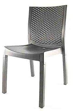 DIMAPLAST Panarea krzesło rattanowe, brązowe, duże