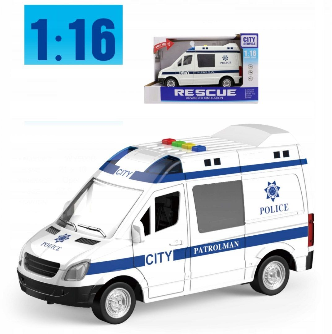 Auto radiowóz Policja otwierane drzwi 1:16 WY590BP