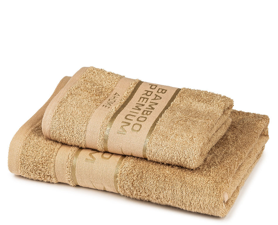 4Home Komplet Bamboo Premium ręczników beżowy