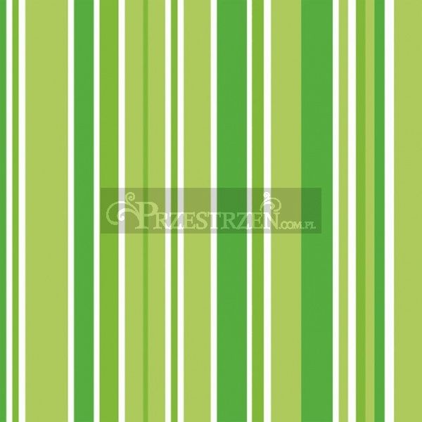 SERWETKI PAPIEROWE - Zielone paski