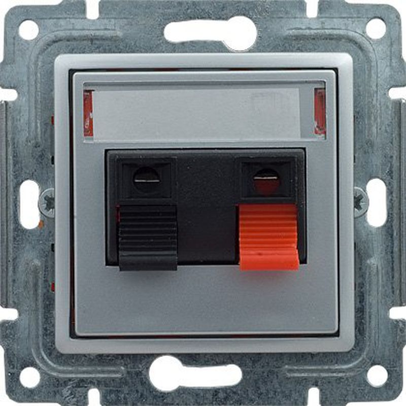 VENA Gniazdo głośnikowe pojedyncze aluminium 514072