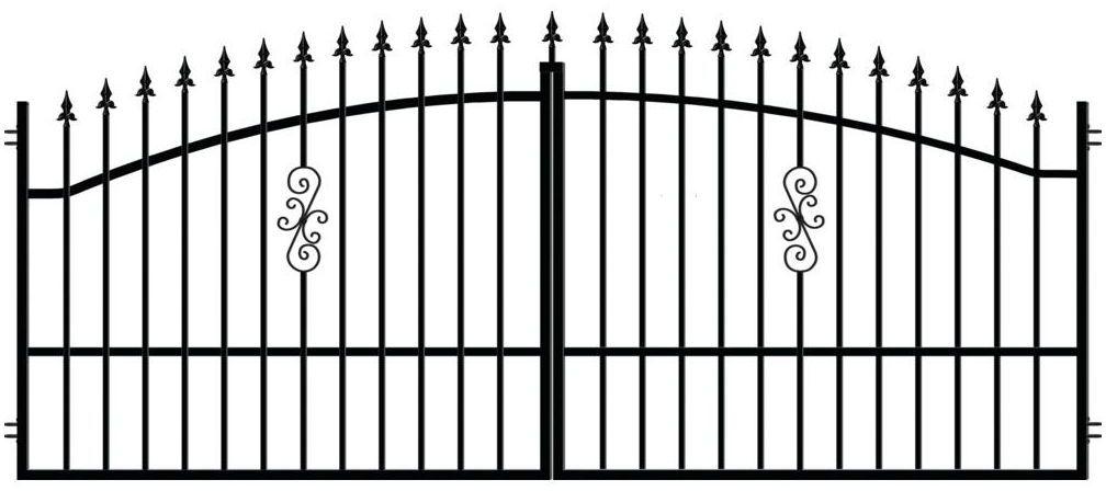 Brama dwuskrzydłowa PALERMO 350 x 150 cm POLARGOS
